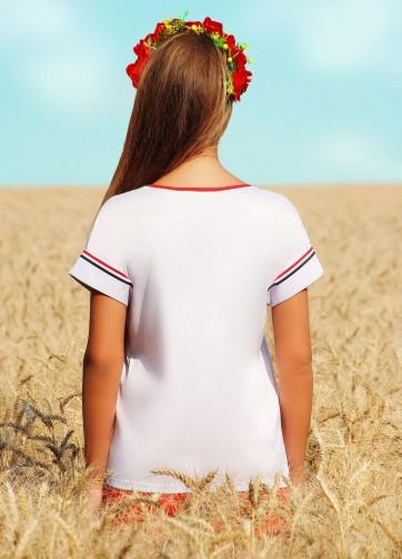 """Блузка свободного кроя с коротким рукавом и принтом """"Микки Маус"""""""