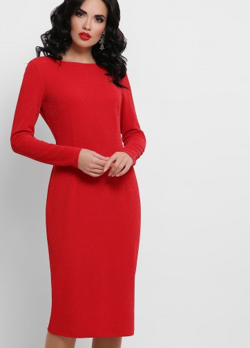 Блестящее платье из люрекса  с вырезом на спине