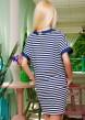 Платье-туника свободного кроя в горизонтальную полоску