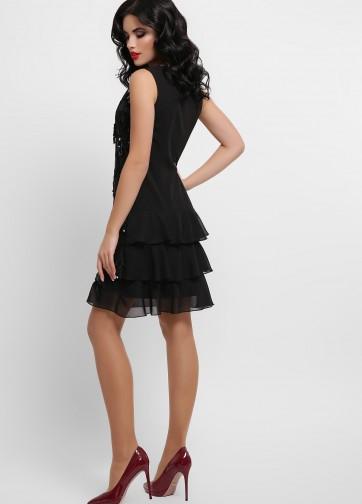 Коктейльное мини-платье с пайетками