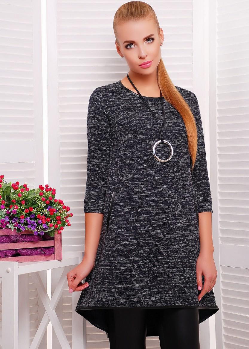 Платье туника трикотажное