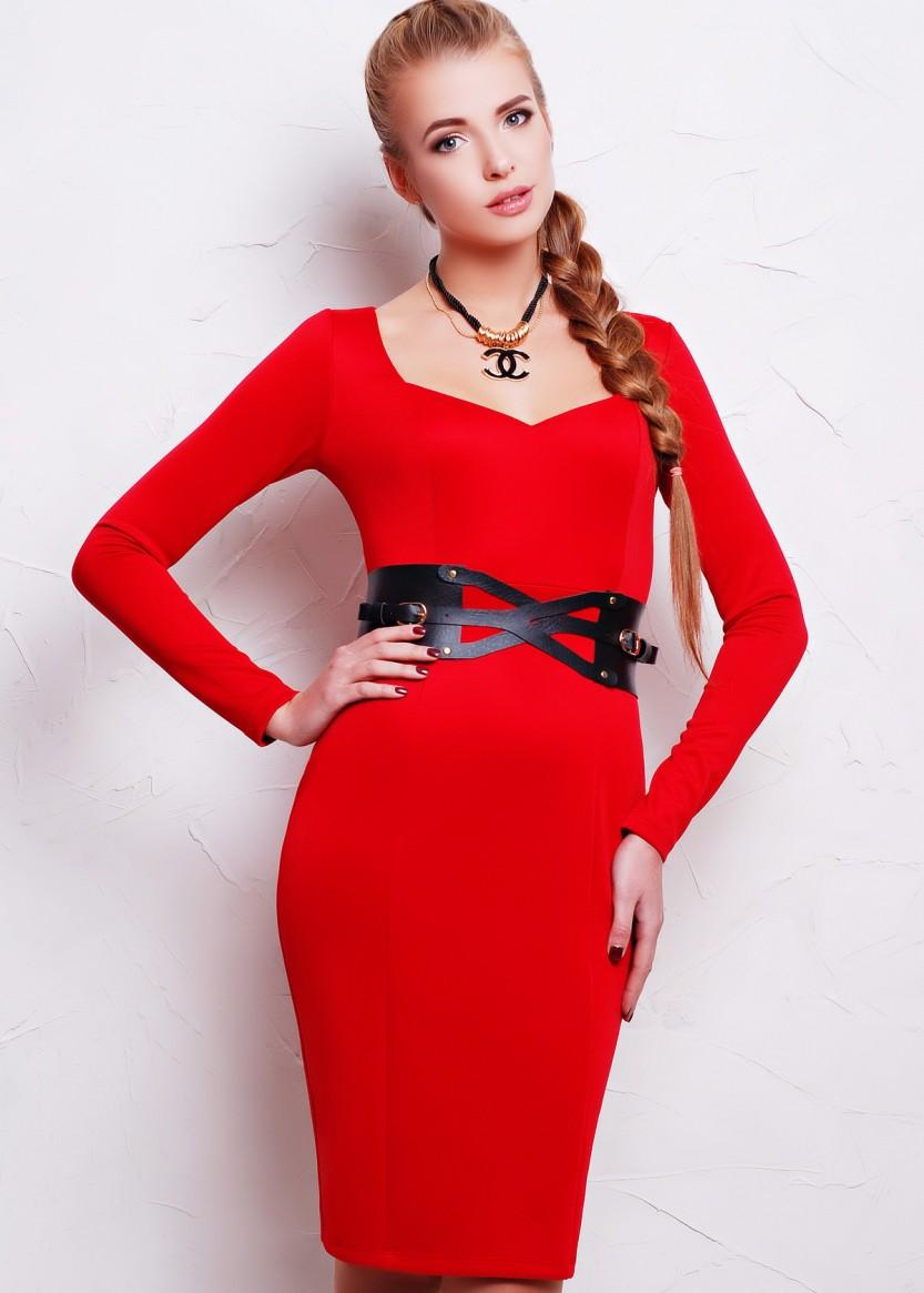 Обтягивающее платье женское