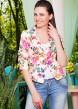 Цвет: персик-цветы лилии