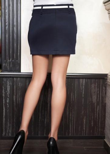 Юбка-мини с двумя втачными карманами и поясом