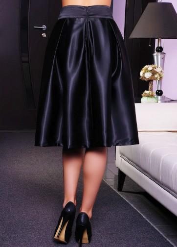 Атласная миди-юбка-колокол