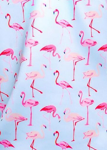 """Небесно-голубая кофта с длинным рукавом и принтом """"Фламинго"""""""