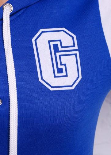 """Спортивная кофта бомбер с логотипом буквы """"G"""" и капюшоном"""