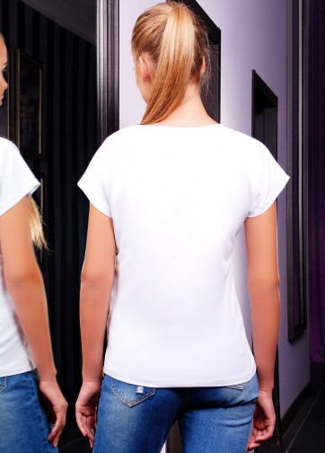 """Белая футболка с коротким рукавом и принтом """"Миньон-Маус"""""""