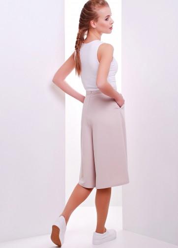 Деловая юбка-брюки с карманами