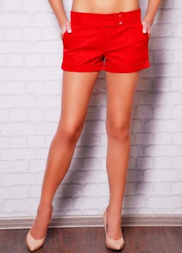 Короткие шорты прямого кроя с отворотами